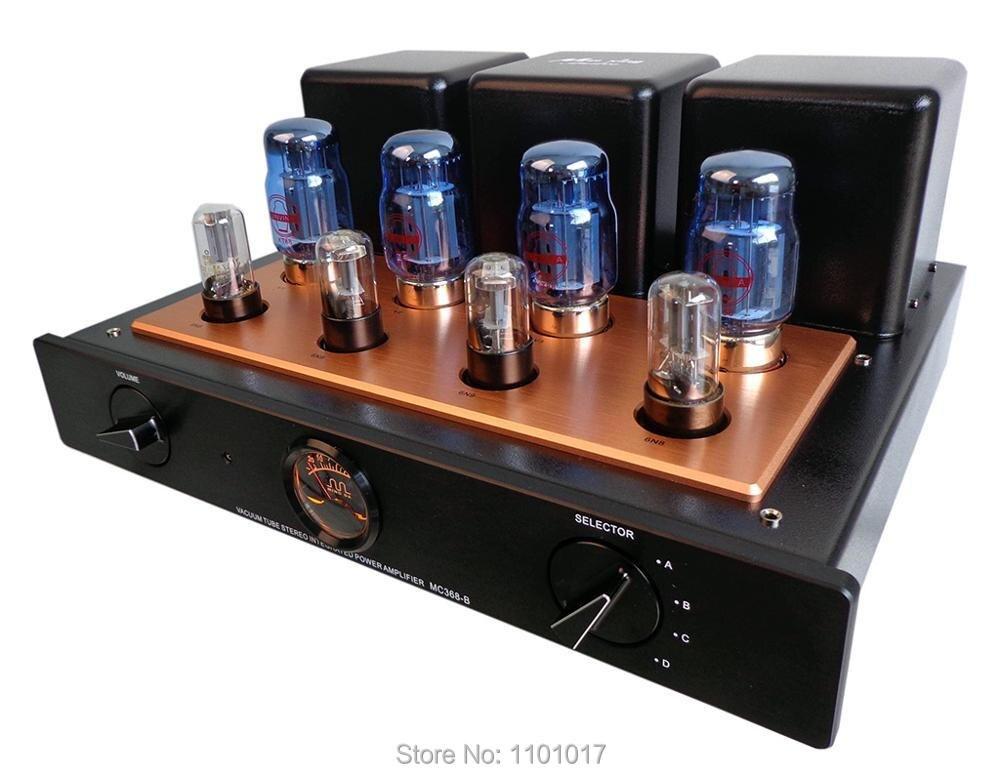 Meixing MINGDA mc-MC368-B KT88 Push-Pull amplificatore a valvole HIFI EXQUIS AMPLIFICATORE 50wx2 integrato lampada 6n8p (6SN7) AMP con telecomando
