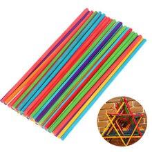 50pcs Round Wooden Stick Colorful Wood Lollipop Lolly Sticks Cake