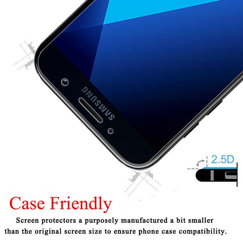Защитное стекло для samsung Galaxy A5 A7 2017 A6 A8 Plus 2018 Sansung Galax J4 5 J6 J 7 8 Glas защитная пленка