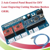 2 Axis Stepper Motor USB Driver Board Control Panel Board 12V for CNC DIY Desktop Laser Engraving Cutting Machine GRBL + Cable