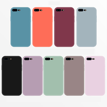 Ottwn Candy Colors Phone cases For iPhone 6 6S 7 8 Plus X XR XS Max Plant Matte Skidproof Soft Silicon Chic Back Case Cover Capa