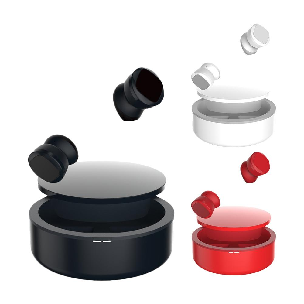 Oreillettes sans fil Bluetooth écouteur Binaural parler sans fil stéréo porter un soutien confortable tous les téléphones et tablettes