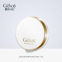GEHOS Light Colorful BB Cushion Cream Suit Refreshing Nude Concealer Moisturizing Foundation Whitening Long Lasting Makeup