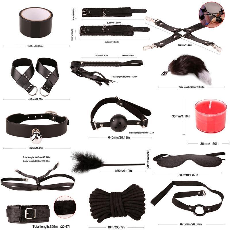 Jouets sexuels pour Couples ensemble de Bondage Kit de retenue SM BDSM esclave Plug Anal vibrateur Flirt jeux jouets érotiques pour femmes hommes