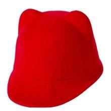 1b1fc42ea782 Mode Unisexe Laine Oreille Cap Derby Chat Fedora Bowler Chapeaux Laine  Chaude Mélange Nouveaux Enfants Casquettes Chapeau 1-6 an.
