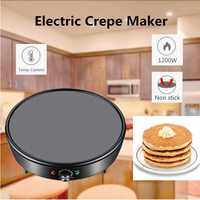 1200W Electric Crepe Maker Pizza Pancake Machine Non stick Griddle baking pan Cake machine kitchen cooking tools Dessert Making