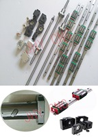 linear rail profile guideways +ballscrews SFU type+3set BK/BF12+3ballut Housings +3couplers