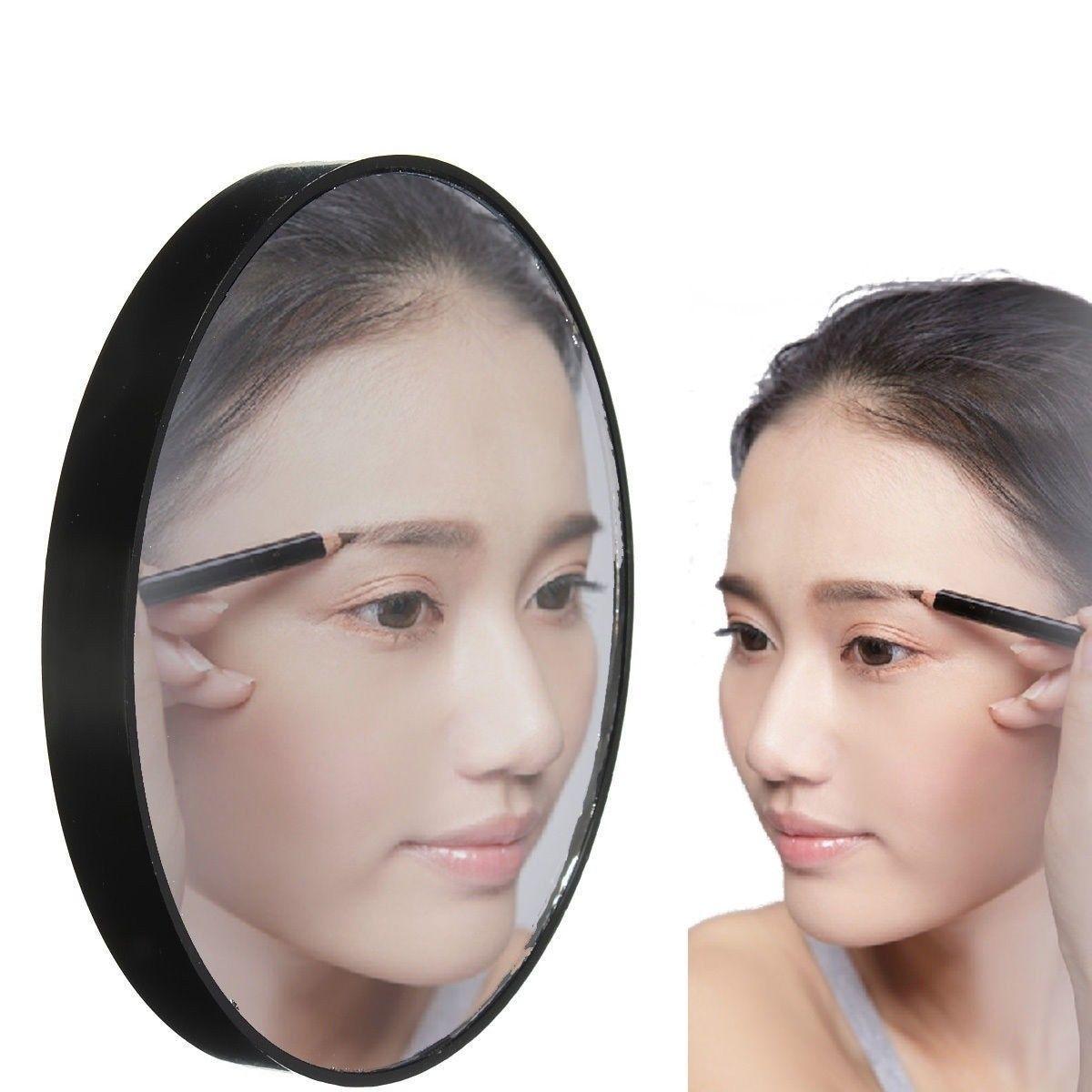 Schminkspiegel Spiegel Clever Mode 10x Riesige Vergrößerungs Make-up Tasche Glas Kosmetik Spiegel Saug-schwarz