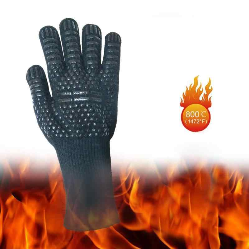 Heat Resistant Thick Silicone Cooking Baking Barbecue Oven Gloves BBQ Grill Mittens Dish Washing Gloves Kitchen Accessories