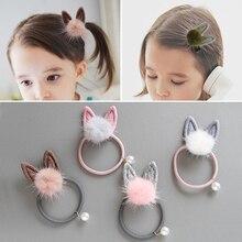 Модная детская эластичная резинка для волос с милым бантом и ушками в виде кота, 1 шт., детские головные уборы, детская клипса, головной убор