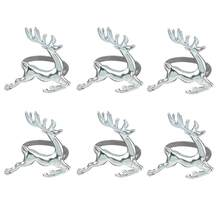 6pcs Elk Deer Napkin Rings for Christmas Wedding Napkin Holder Ornament Party Banquet Table Decoration Accessories(China)