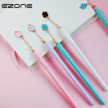 EZONE 1PC Four-Leaf Clover Pendant Gel Pen Girl Favors Creative Writing Neutral Black Ink School Stationery Supply 4 Colors