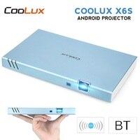 COOLUX X6S Портативный проектор мини умный проектор на Android Full HD 1080 P Беспроводной BT Wi Fi 4 K 3D DLP проектор для домашнего Театр