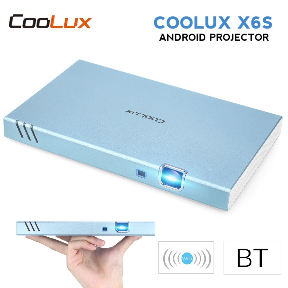 Projecteur Portable COOLUX X6S Mini projecteur Android intelligent Full HD 1080P sans fil BT Wifi 4K 3D DLP projecteur pour Home cinéma