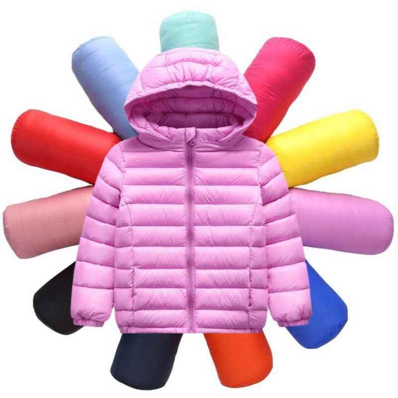 Новая детская одежда Зимний Детский пуховик Куртка для мальчиков и девочек, Детский пуховик с капюшоном
