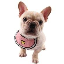 Legendog Pet Triangle Towel Bandana Fashion Cute Heart Decor Lace Dog Bib For Cat Accessories