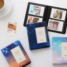 64 cepler 3 inç yıldızlı gökyüzü fotoğraf kitabı albümü Fujifilm Instax Mini film albümü Instax Mini 9 8 7s 90 70 25 kartvizit tutucu