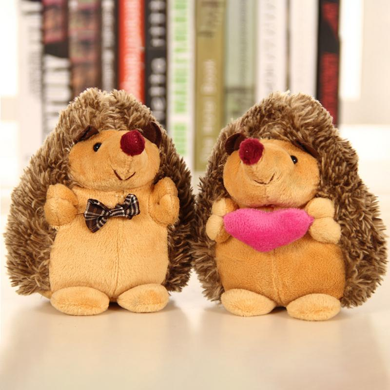 18cm Couple Hedgehog Plush Doll Figurine Animal Series Wedding Gift Toy