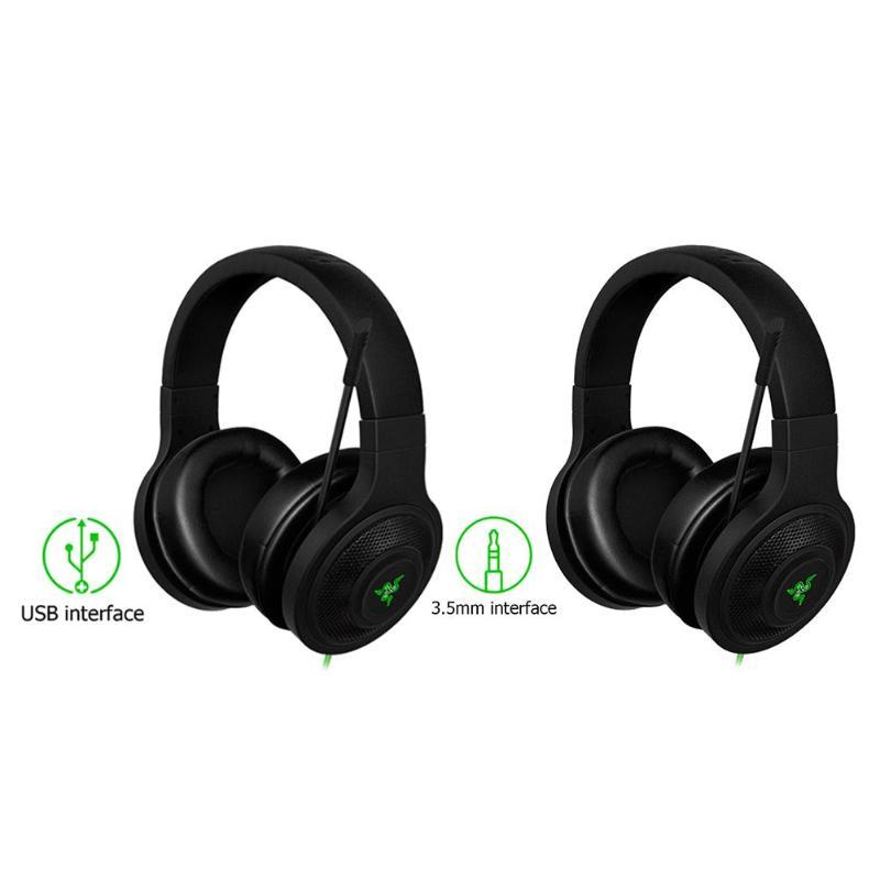 Razer Kraken 7.1 casque d'écoute isolation du bruit sur l'oreille casque de jeu filaire analogique 3.5mm/USB avec micro pour PC/ordinateur portable/téléphone Gamer