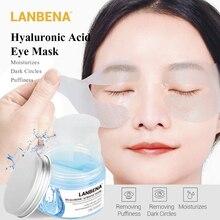 LANBENA 50 шт. патчи для глаз с гиалуроновой кислотой Натуральный гель Коллаген против старения морщин темные круги увлажняющая маска для глаз