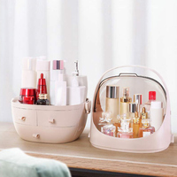 Large Capacity Makeup Organizer Cosmetic Storage Box with Dustproof Lid Home Desktop Storage Bags for Holdering Jewelry