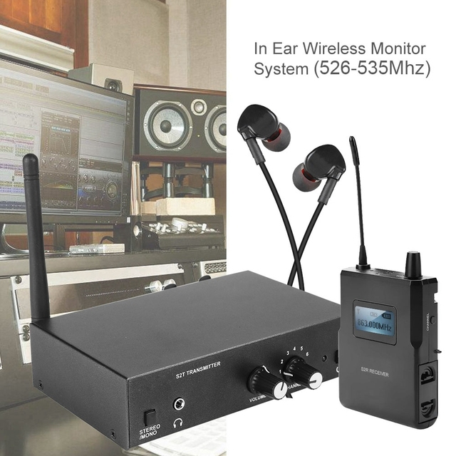 Für ANLEON S2 Stereo Wireless Monitor System Kit In Ohr Bühne Überwachung 561 568Mhz Sender und Empfänger Set