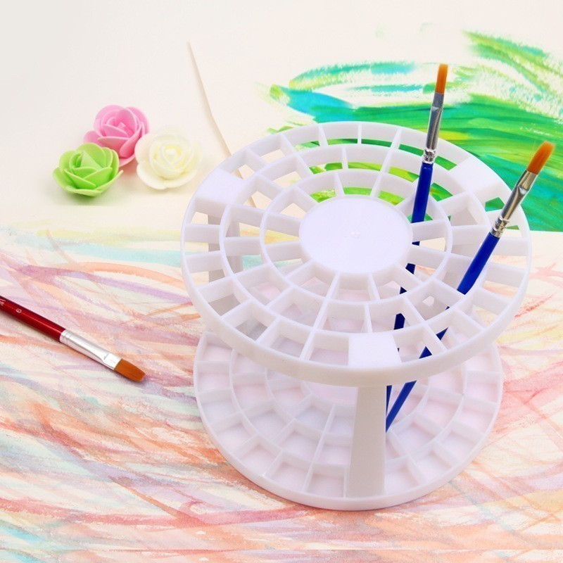 Creative Oil Watercolor Paint Brush Pen Holder 49 Holes Art Supplies Acrylic Painting Drawing DIY Brush Holder For Artist 03172
