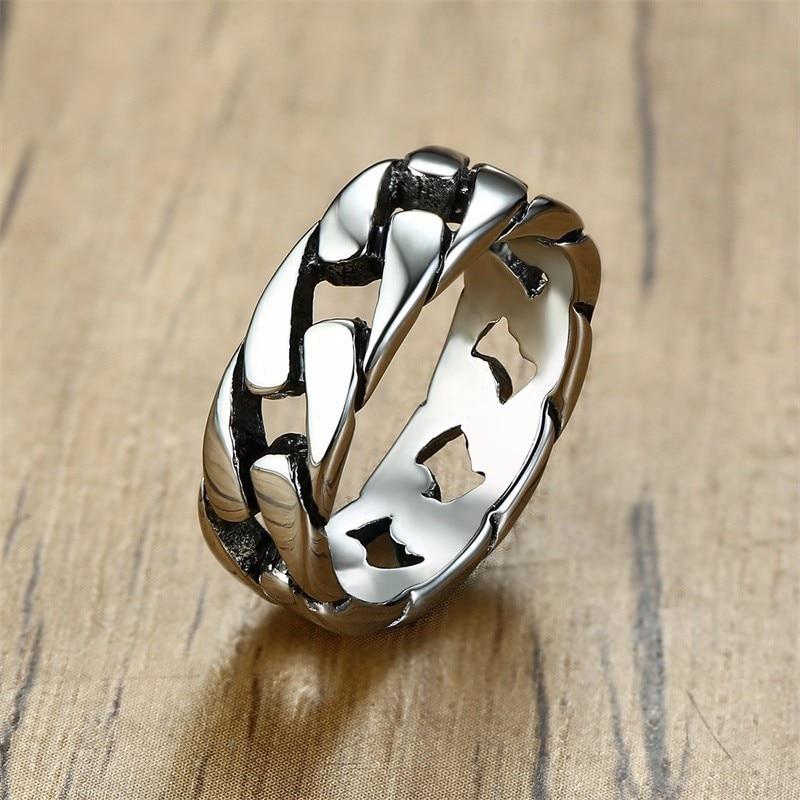 7MM Men Stainless Steel Ring for Men