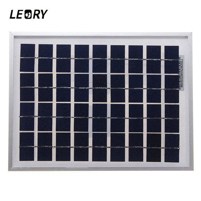 LEORY 5W 18VSolar Panel Outdoor PolyCrystalline  Solar Cells Module Charger For 12V Battery Applied To DC LED lights For Camping