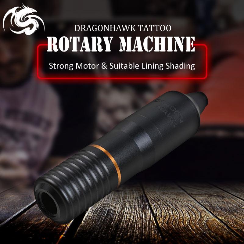 Aluminum Alloy Electric Carving Pen Rotary Tattoo Gun Black Precision DC Motor