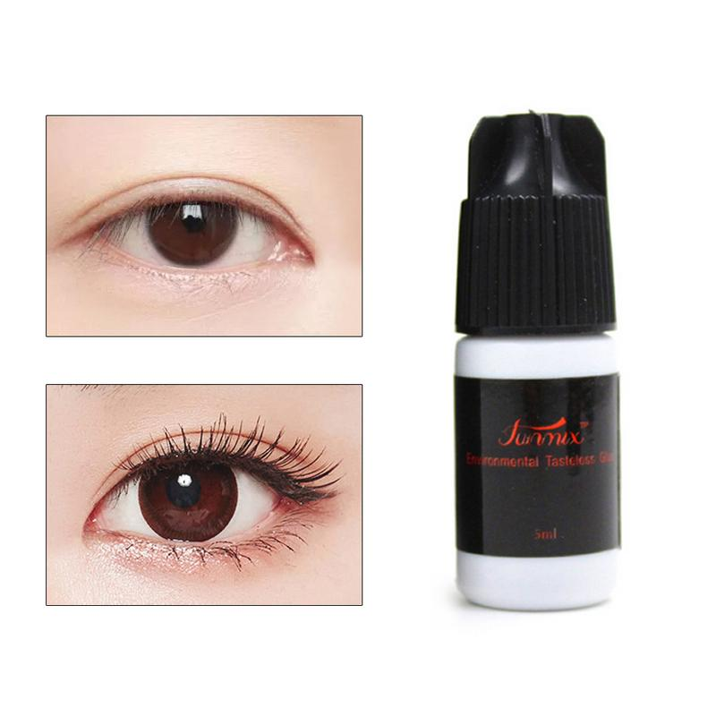Fast Drying Eyelash Glue No Odor No Irritation Lasting Makeup Waterproof False Lashes Extension Adhesive Black Strong Sticky