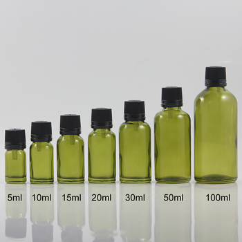 100PCS A LOT glass bottle with black screw cap 30ml, 1 ounce essential oil glass packaging