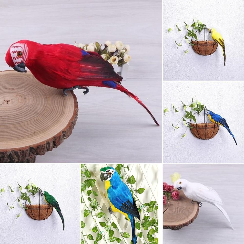Käsitsi valmistatud dekoratiivne papagoi 25 sm 4