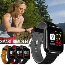 Q58S умный браслет полный Сенсорный экран Водонепроницаемый крови Давление сердечного ритма спортивные Фитнес трекер Мониторинг здоровья Ip67