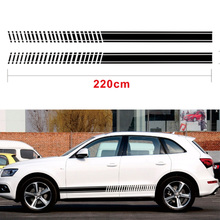 1 Pair Balck Decal Car Sticker Graphic Stripe Kit  for HONDA Decor Styling accessories