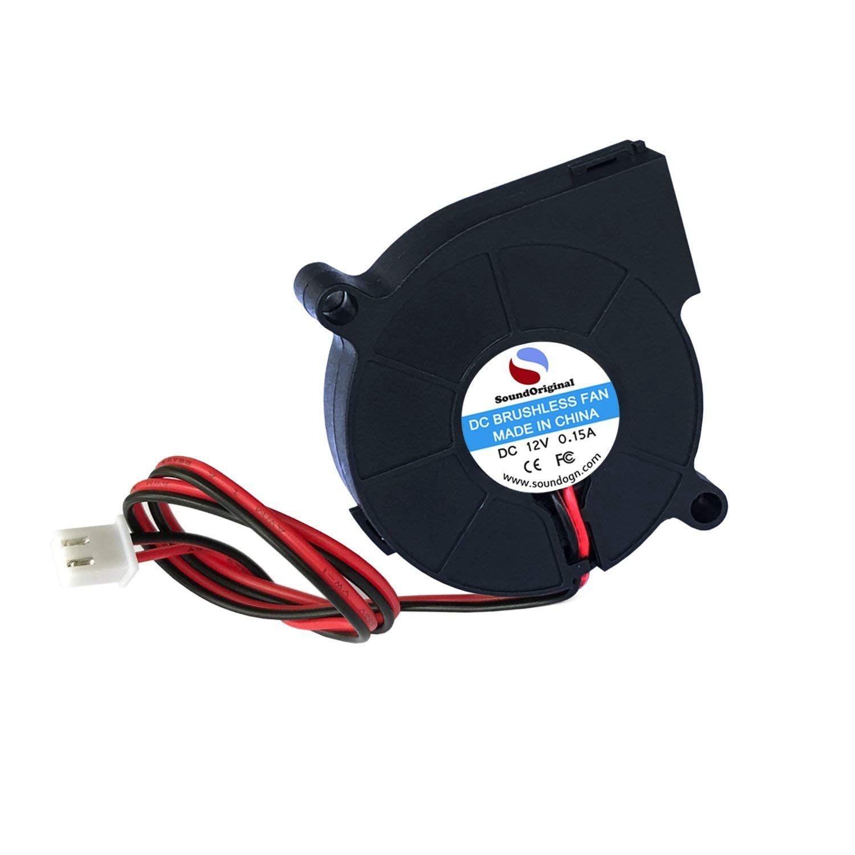 Poux 2 pièces ventilateur de refroidissement ventilateur DC 12V 0.15A 50mm x 15mm ventilateurs pour imprimante 3d humidificateur aromathérapie et autres petits appareils Se