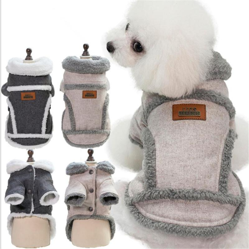 Winter Dog Jacket Coat Puppy Dog Clothes Pet Clothing Outfit Soft Warm Coral Velvet Costum