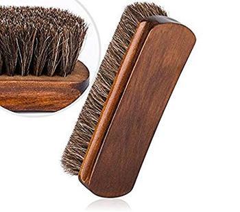 2 unids/set de cepillos de brillo para zapatos de crin herramienta de raspado con cerdas de pelo de caballo para botas, zapatos y otros cepillos de cuidado de cuero