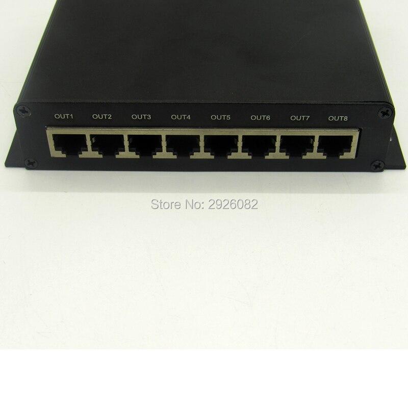 Cartão SD DMX LED pixel controlador de iluminação, 8 portas de saída DMX Controlador (on line/off line/wifi/tempo/DMX/ cinco em um), a 8 DMX - 4