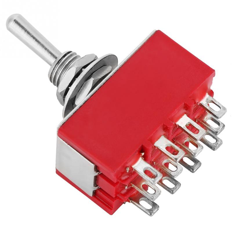 3A 250VAC // 6A 125VAC Senven/® 10Pcs Mini Interruptor de Palanca para Autom/óvil Profesional ON-OFF 2 Posiciones 3 Pines SPST Interruptor de Balanc/ín de Metal Interruptor de Palanca con Precableado