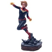 Vengadores capitán Marvel 22-27 cm Thanos ironman spiderman Deadpool Danvers estatua KO Iron Studios de acción   PVC figuras de acción juguete figura