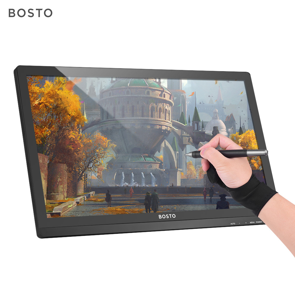 BOSTO Digital Tablet 22U mini Interactive Pen Display Monitor 21 5 Inch HD Screen 8192 Level