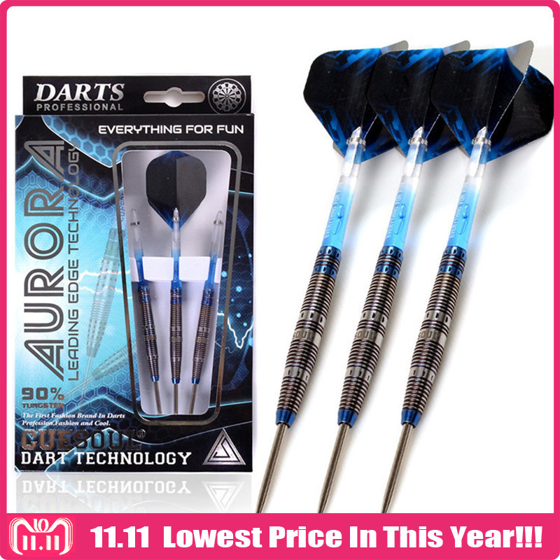CUESOUL 3pcs/set 23g 145mm Tungsten Steel Tip Darts With 90%Tungsten Steel Barrel And Translucent Dart Shafts And Flights new cuesoul 90