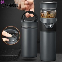 CAKEHOUD 500ml Business Type Stainless Steel Vacuum Flask Large Capacity Tea Separation Bubble Mug Gift Cup