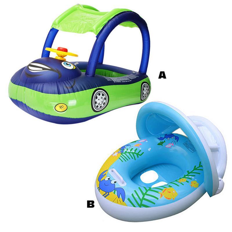 Baby Kids Summer Swimming Pool Swimming Ring Inflatable Car Swim Float Water Fun Pool Toys Swim Ring Seat Boat Water Sport