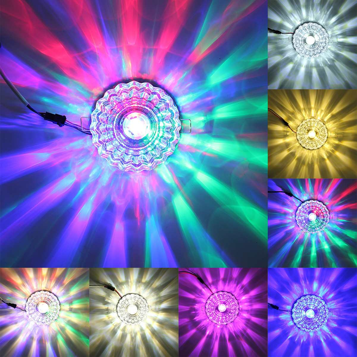 3W 7 Modes Modern Crystal Flush Mounted Round Ceiling Light Multicolor Living Room Corridor Aisle Lamp Home Lighting Decoration3W 7 Modes Modern Crystal Flush Mounted Round Ceiling Light Multicolor Living Room Corridor Aisle Lamp Home Lighting Decoration