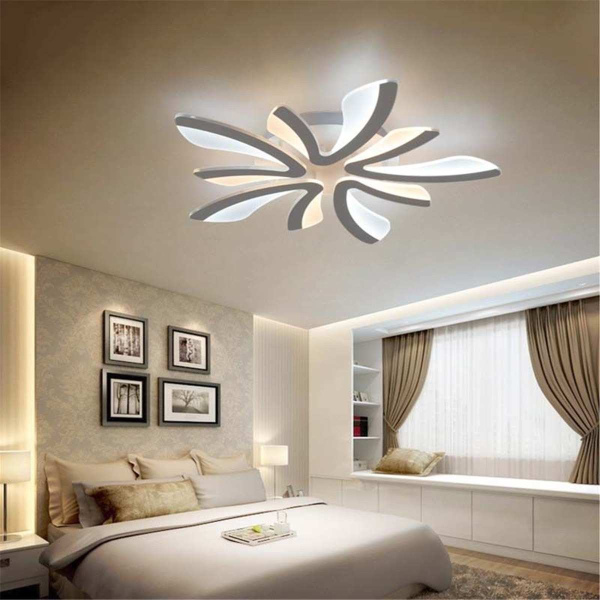 US $54.94 18% OFF|Delicate Modern LED Acrylic Ceiling Lamp Pendant Light  Chandeliers Home Living Room Bedroom Dining Bedroom Decor Light Fixtures-in  ...