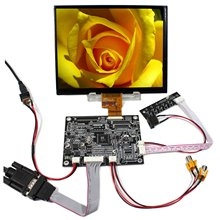 8 pouces IPS LCD écran HJ080IA 01E 1024x768 VGA AV LCD contrôleur carte inversion