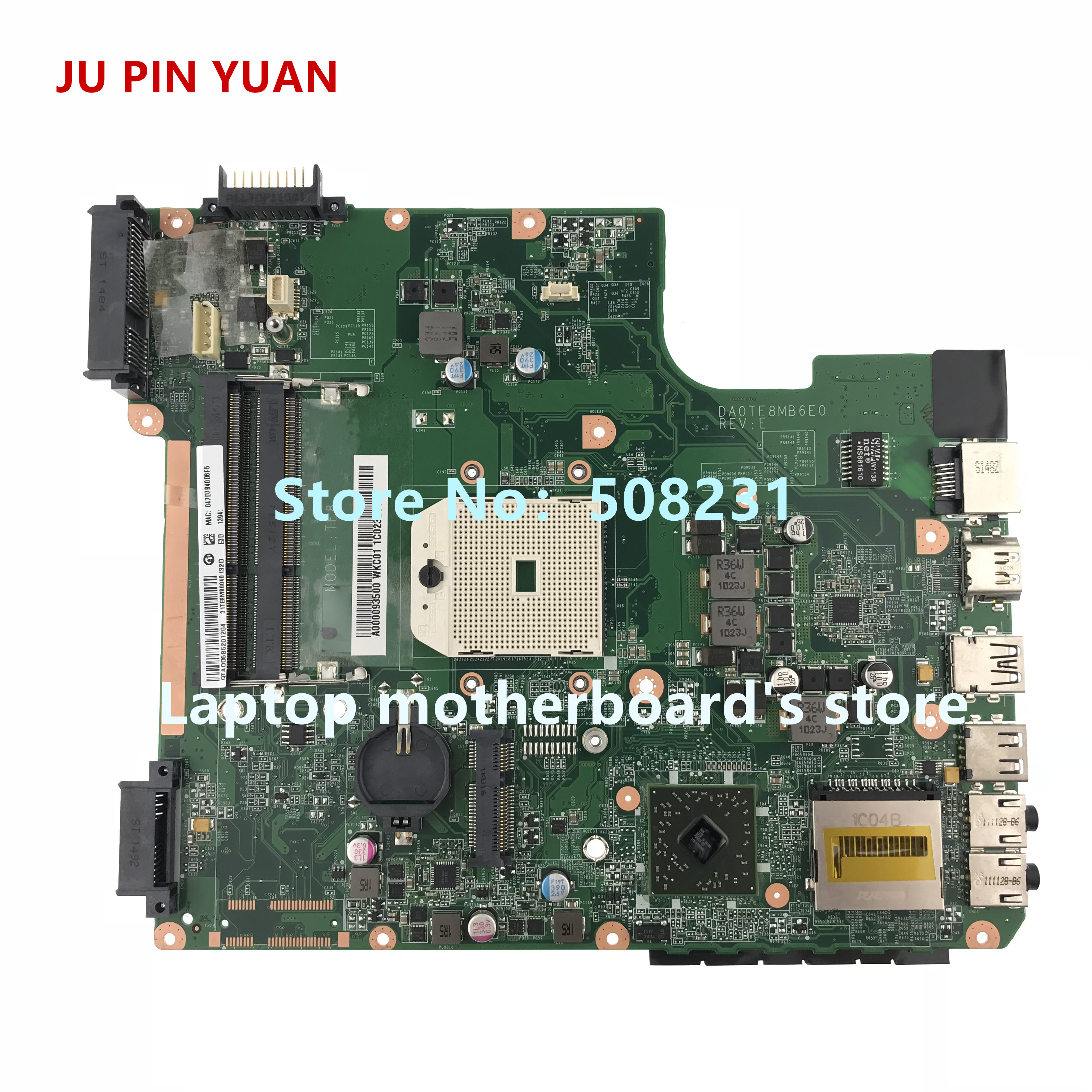 JU PIN YUAN A000093500 DA0TE8MB6E0 mainboard for Toshiba Satellite L745D series Laptop Motherboard All functions fully TestedJU PIN YUAN A000093500 DA0TE8MB6E0 mainboard for Toshiba Satellite L745D series Laptop Motherboard All functions fully Tested