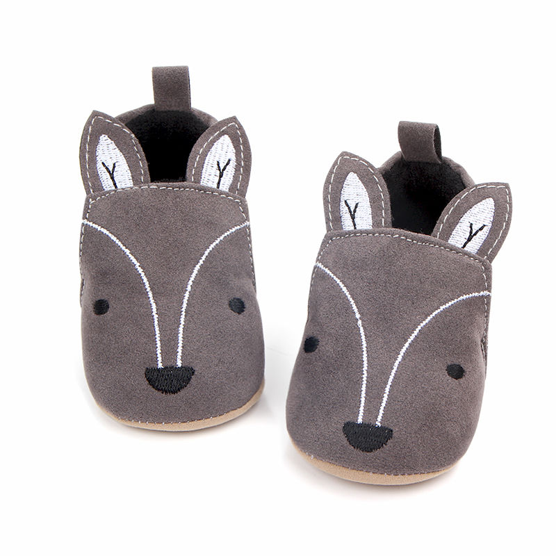 First Walker Anti-slip Sneaker Fox Baby Shoes Toddler Newborn Baby Girl Boy Soft Sole Cute Crib Shoes Slipper